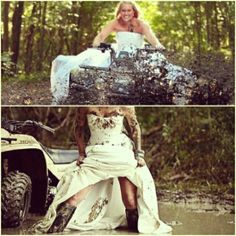 red necks waddings | Redneck Wedding Ideas | Weddinary.com yes like going muding this how wont my wadding some day