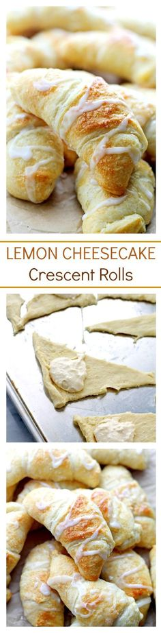 Lemon Cheesecake Crescent Rolls. Super easy and incredibly soft Crescent Rolls…