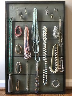 Shabby chic earring display Lace jewelry organizer Shabby chic