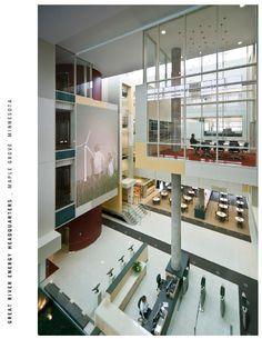 Great River Energy Headquarters | AIA Top Ten Top Ten, Indoor, Organization, River, Space, Design, Getting Organized, Floor Space, Organisation