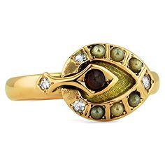 14K Rose Gold The Dina Ring, large top view