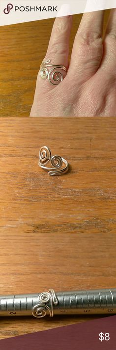 Pinky Ring OR a Toe Ring size 3 1/2 This super cute ring is a perfect one for either to or pinky. It is adjustable. Jewelry Rings