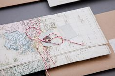 Cute Map Invitations :]