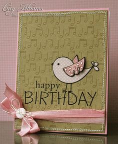 We love to give and receive thoughtful birthday cards from our family and friends! Handmade Birthday Cards, Happy Birthday Cards, Birthday Greetings, Tarjetas Stampin Up, Karten Diy, Bday Cards, Beautiful Handmade Cards, Card Making Inspiration, Card Tags