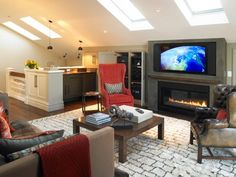 smart design of attic space - love the skylights in lieu of windows