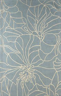 Gina Hand-Tufted Sky Blue/Ivory Area Rug