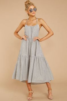 95ea5190dbf7 Stylish Blue Striped Maxi Dress - Flowy Sleeveless Maxi - Dress - $58 – Red  Dress