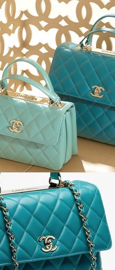 Quilted lambskin flap bag - CHANEL 2015