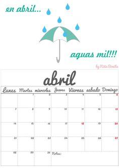 Imprimible: Calendario Abril 2014