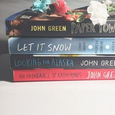 Hey guys  Sorry for the bad quality of this photo, I just thought I rly need to update. Just a few john green books. I thought they were pretty good, not amazing or anything tho lol. Just meh.  What's your opinion on these books seeing as they are pretty controversial?  *  *  *  #blog #review #tumblr #aesthetic #books #bookstagram #bookaholic #bookshelf #bookworm #johngreen #ya #lit #fff #sfs #nerd #pretty #bookblogger #booklover #bookish
