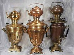 Handmade Antique Imperial Russian Samovars between 100-250 years old