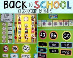 Back to School Classroom Bundle is a combination of Calendar Week by Week, Back to School Word Wall (Editable), Visual and Picture Directions and Center Labels for Preschool. Calendar Week-by-Week was created with kindergarten in mind.