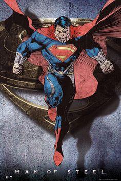 Superman Man Of Steel - Cartoon Flying