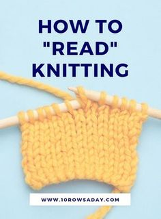 The main knitting skill (especially for beginners) 10 rows a day, Knitting is amazing. It makes beautiful knitting projects , Beginner Knitting Projects, Knitting Basics, Knitting Stitches, Knitting Needles, Knitting Patterns Free, Knitting Tutorials, Cowl Patterns, Knitting Machine, Knitting For Beginners Projects