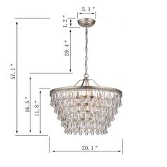 Rosdorf Park Bramers 6 - Light Unique / Statement Tiered Chandelier with Crystal Accents Closet Chandelier, Bathroom Chandelier, Chandelier Lighting, Circle Chandelier, Ceiling Fan Price, Candelabra Bulbs, Antique Lighting, Bedroom Lighting, Closet Lighting
