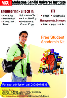 #BTech #Lucknow #MGUI offers B.Tech programs in Uttar Pradesh as Bachelor in Technology is one of the field that has huge opportunities all over the world. B.tech in Civil Engineering, Electronics, Mechanical, Computer Science and more specialization are offered here at MGUI. For more information about MGUI B.Tech Course Visit Online: www.ddit-mgui.com Or Call Us +91-09565448844, +91-08739075754