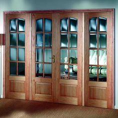 Image of Norbury Oak PH8O Room Divider - Door Pair, Side Panels, Frame & Glass