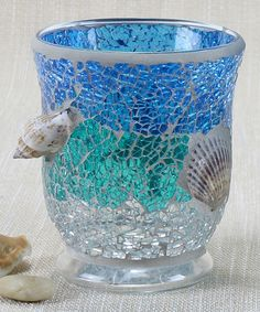 Take a look at this Blue & Teal Mosaic Tall Candleholder by Young's on #zulily today!