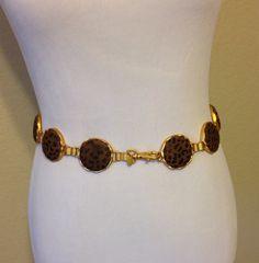 Vintage Leopard and Gold Belt or Necklace on SALE by Oldtonewjewels