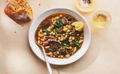 Instant Pot Braised Lamb with White Beans and Spinach - Top Trends Lamb Shoulder Chops, Bean Soup Recipes, Lamb Recipes, Cooker Recipes, Yummy Recipes, Dinner Recipes, Braised Lamb, Lamb Stew, Recipes