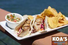 Fish Tacos - Grilled fish, Asian slaw, avocado crema, pico de gallo ...
