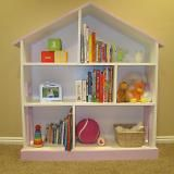 dollhouse bookshelf -- ella's bday gift.