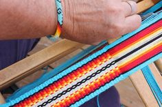 This beaded Navajo bracelet purchased in Santa Fe recently inspired a color combination for a guitar strap. #guitar_strap #inkle_weaving #weaverguitarstraps