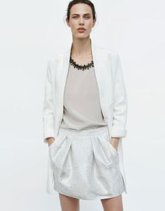 SILK BLOUSE WITH APPLIQUÉS ON THE COLLAR - Shirts - Woman - ZARA United States