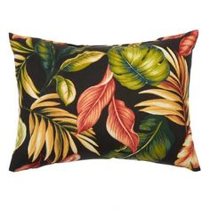 One of my favorite discoveries at ChristmasTreeShops.com: Palm Floral Indoor/Outdoor Oblong Throw Pillow