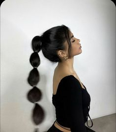 Baddie Hairstyles, Trendy Hairstyles, High Ponytail Hairstyles, Straight Hairstyles, Hair Inspo, Hair Inspiration, Cabelo Inspo, Curly Hair Styles, Natural Hair Styles
