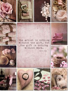 ❧ Collages de photos ❧ moodboard brown and pink by AT