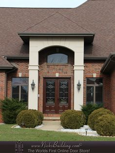 elegant double front doors. Look At This Elegant 8 Foot Double Entrance Door! Nicksbuilding.com Front Doors 4