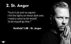 James Hetfield - Metallica St. Anger, 2003 Metallica Quotes, St Anger, James Hetfield, Regrets, The Voice, Let It Be, Songs, Tatoos, Bible