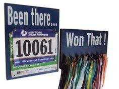 Running medals holder and race bib holder