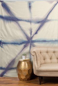 Jacqueline Maldonado Light Dye Folding Blues Tapestry   DENY Designs Home Accessories