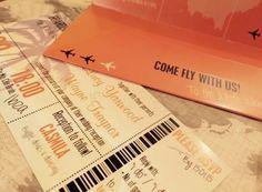 Holiday Destination Travel Wallet Wedding Invites! #theinviteshack #stationery