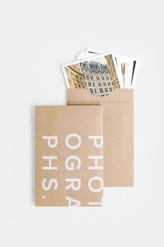 packaging Photographs, in real life.