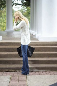 cable knit + flares