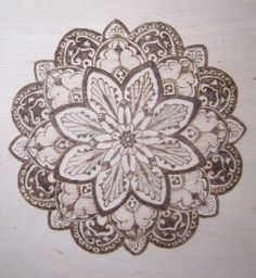 Mandala Designs, askaer23: wood burned mandala 4