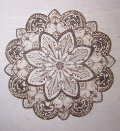 Mandala Designs, askaer23: wood burned mandala 4
