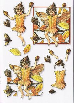 Album Archive - More of Evelyn's prints 3d Paper Crafts, Paper Toys, Paper Art, Fantasy Illustration, Graphic Illustration, Decoupage Printables, Cicely Mary Barker, Money Origami, Baby Fairy