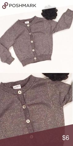 Carter's Sparkle Cardigan Sparkly silver cardigan with buttons up the front. Lightweight and really soft. Carters Dresses