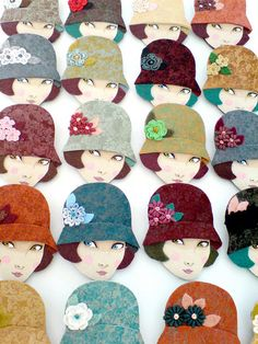 Emma  brooches by Yalipaz - Art and accessories, via Flickr