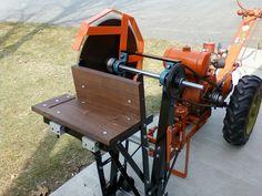 '46 Montogomery 2 wheel garden tractor with homemade cut off saw
