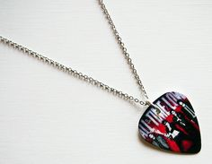 Guitar Pick Necklace All Time Low Necklace All Time by musicshop, €9.50