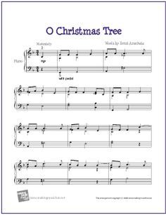 O Christmas Tree | Free Sheet Music for Piano (Charlie Brown Christmas Special) - http://makingmusicfun.net/htm/f_printit_free_printable_sheet_music/o-christmas-tree-piano-solo.htm