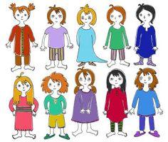 dessin fillettes pyjama