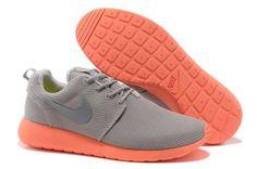 Mens : Nike Roshe Running - Gray Orange Silver Junior