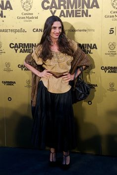 "Angela Molina Photos Photos - Spanish actress Angela Molina attends the ""Carmina…"