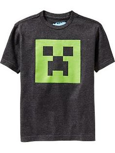 """Boys Minecraft™ Tees. Another """"must have"""" if you are 8."""